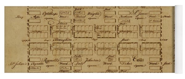 Map Of Savannah 1761 Yoga Mat