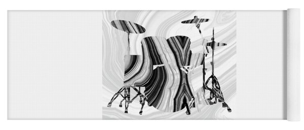 Marbled Music Art - Drums - Sharon Cummings Yoga Mat