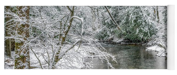 March Day Along Cranberry River Yoga Mat