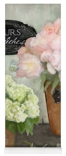 Marche Aux Fleurs 2 - Peonies N Hydrangeas Yoga Mat