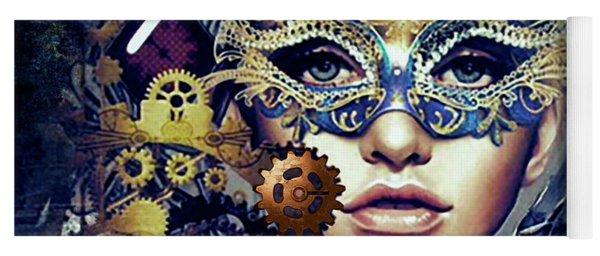 Mardi Gras Mask Yoga Mat