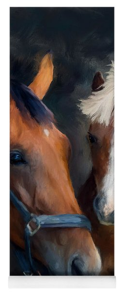 Mare And Foal Yoga Mat