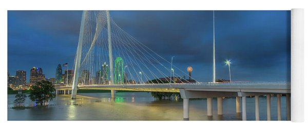 Yoga Mat featuring the photograph Margaret Hunt Hill Bridge Dallas Texas by Robert Bellomy