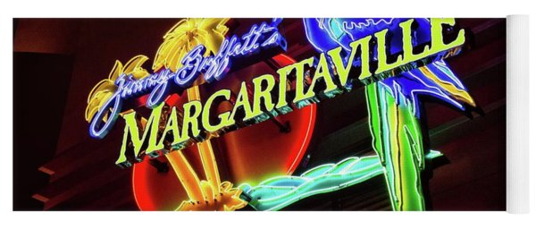 Yoga Mat featuring the photograph Margaritaville Sign by Lynn Bauer