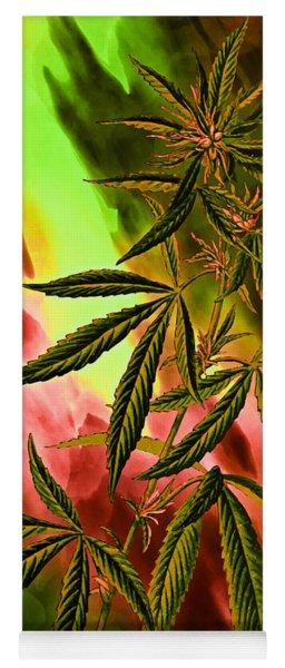 Marijuana Cannabis Plant Yoga Mat