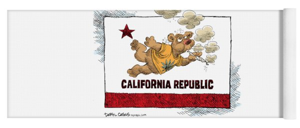 Marijuana Referendum In California Yoga Mat