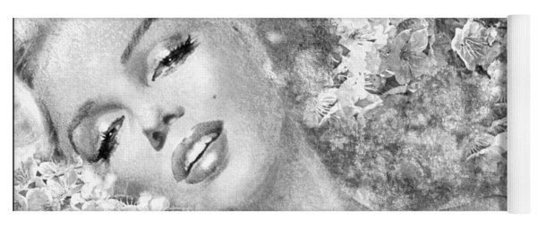 Marilyn Cherry Blossom Bw Yoga Mat