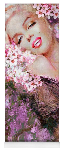 Marilyn Cherry Blossoms Pink Yoga Mat
