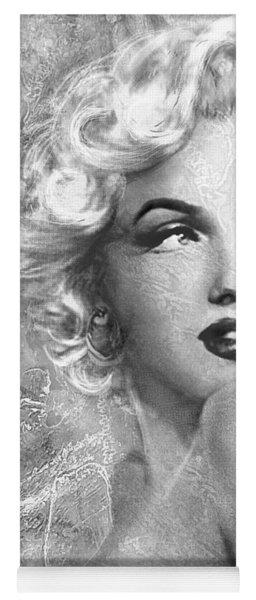Marilyn Danella Ice Bw Yoga Mat