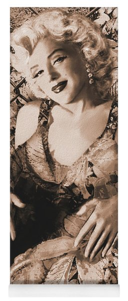 Marilyn Monroe 126 A 'sepia' Yoga Mat