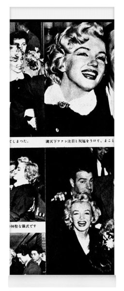 Marilyn Monroe And Joe Dimaggio 1950s Photos By Unknown Japanese Photographer Yoga Mat