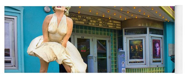 Marilyn Monroe In Front Of Tropic Theatre In Key West Yoga Mat