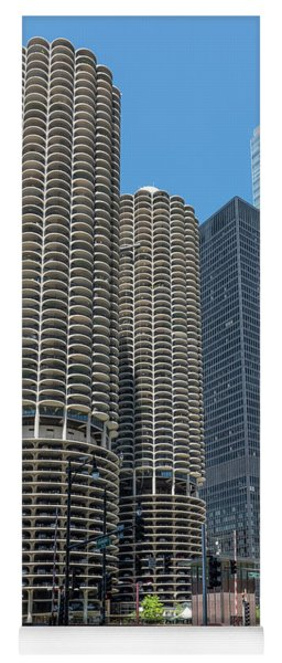 Marina City, Ama Plaza, And Trump Tower Yoga Mat