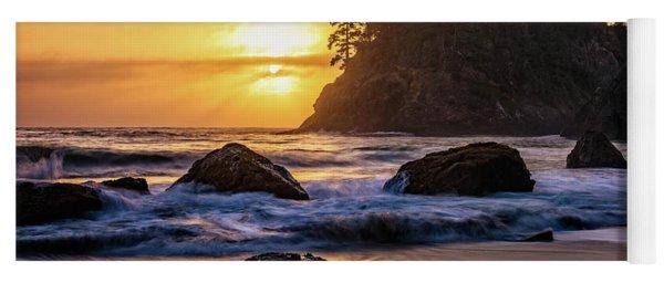 Marine Layer Sunset At Trinidad, California Yoga Mat