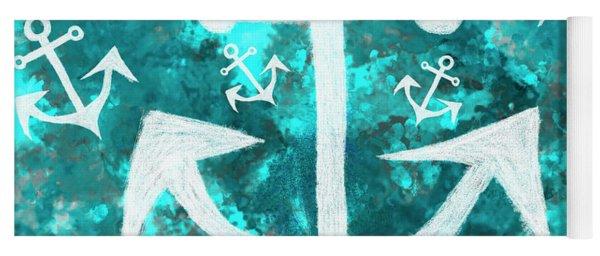Maritime Anchor Art Yoga Mat