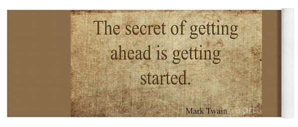 Mark Twain Yoga Mat