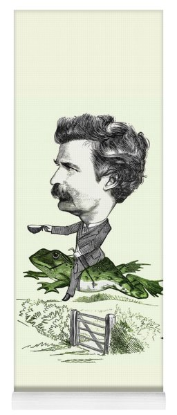 Mark Twain Caricature Colorized Yoga Mat