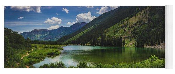 Maroon Lake Panorama Yoga Mat