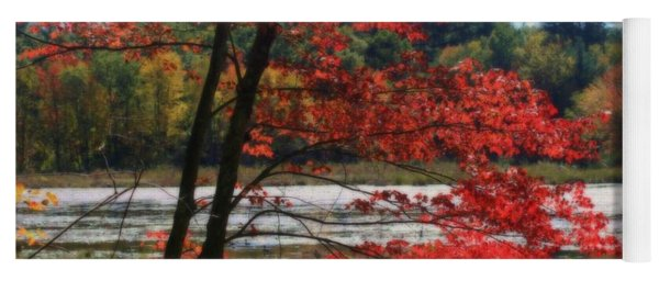 Marsh In Autumn Yoga Mat