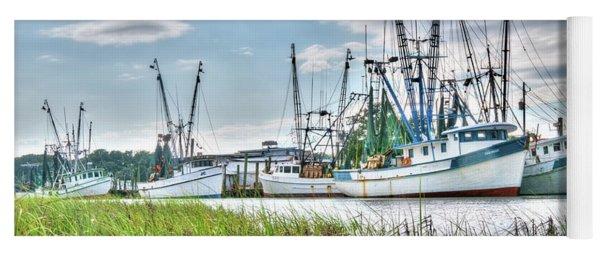 Marsh View Shrimp Boats Yoga Mat