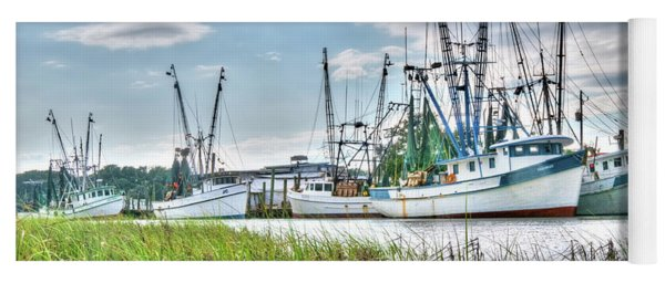 Marsh View Shrimp Boats Yoga Mat