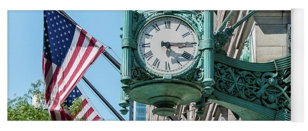 Marshall Field's Clock Yoga Mat