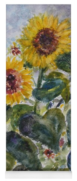 Martha's Sunflowers Yoga Mat