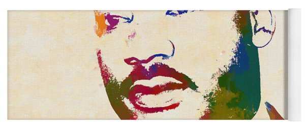 Martin Luther King Watercolor Yoga Mat