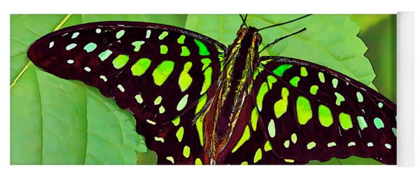 Marvelous Malachite Butterfly 2 Yoga Mat
