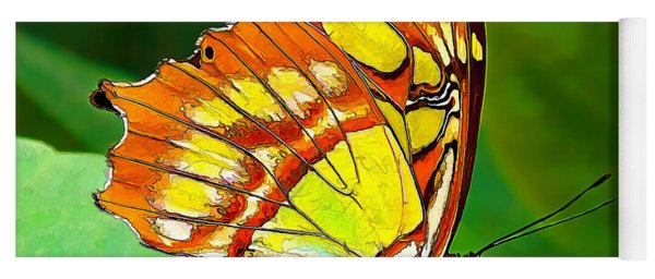 Marvelous Malachite Butterfly Yoga Mat