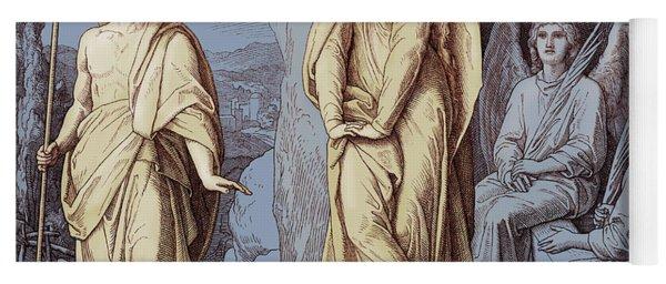 Mary Magdalene At The Tomb Of Christ, Gospel Of John Yoga Mat