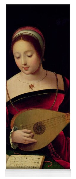 Mary Magdalene Playing The Lute Yoga Mat