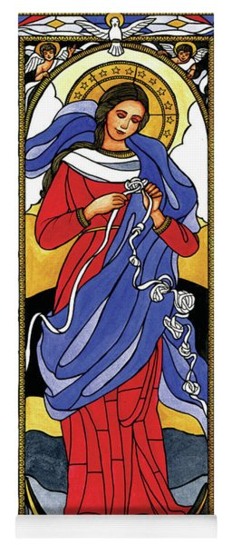 Mary, Undoer Of Knots Yoga Mat