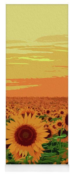 Maryland Sunflowers Yoga Mat