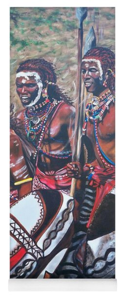 Blaa Kattproduksjoner       Masaai Warriors Yoga Mat