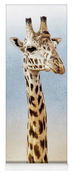 Masai Giraffe Closeup Square Yoga Mat