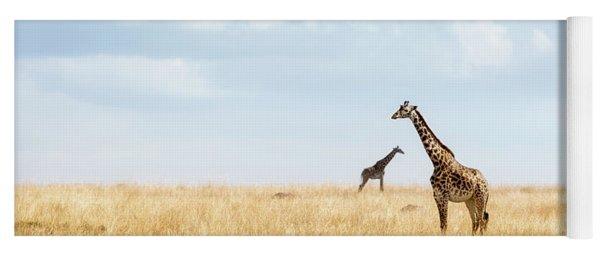 Masai Giraffe In Kenya Plains Yoga Mat