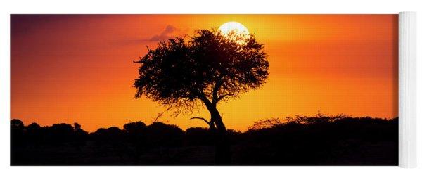 Masai Mara Sunrise Yoga Mat
