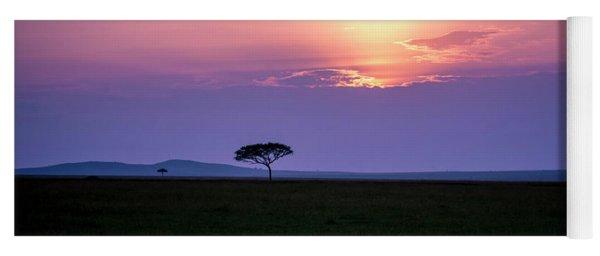 Masai Mara Sunset Yoga Mat