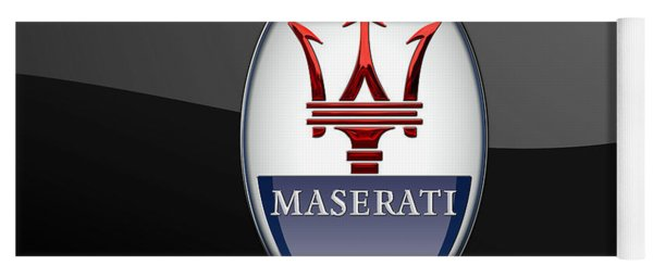 Maserati - 3d Badge On Black Yoga Mat
