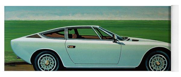 Maserati Khamsin 1974 Painting Yoga Mat