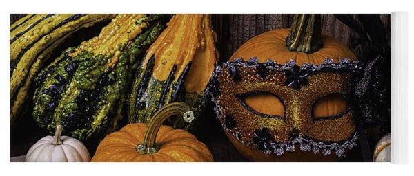 Masked Pumpkin Yoga Mat