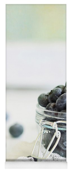 Mason Jar Full Of Blueberries Yoga Mat