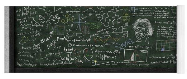 Maths Formula On Chalkboard Yoga Mat