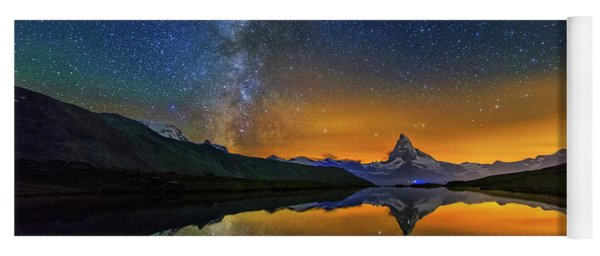 Matterhorn By Night Yoga Mat