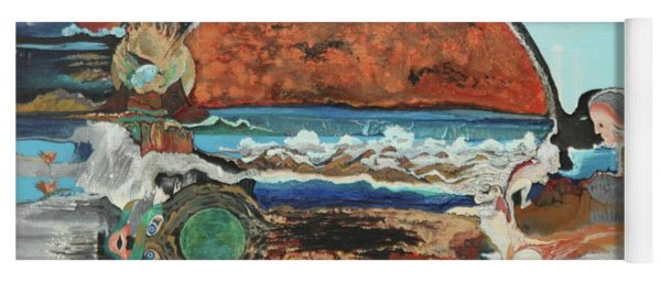 Yoga Mat featuring the painting Maui by Richard Van Vliet