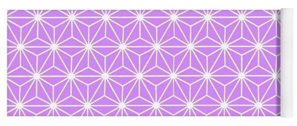 Mauve Geometric Flowers And Florals Isosceles Triangle  Yoga Mat