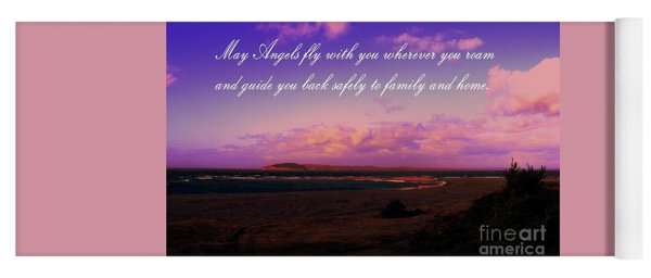 May Angels Fly With You Yoga Mat
