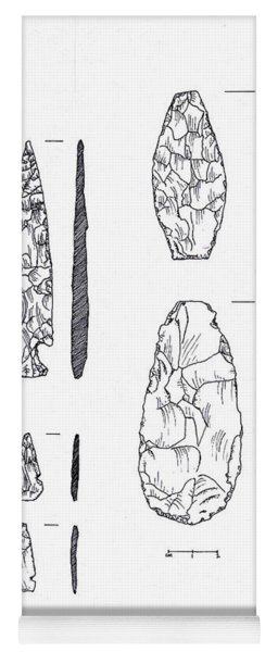 Maya Stone Tools Yoga Mat