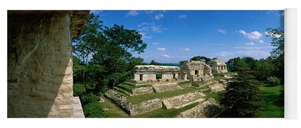 Mayan Temple Ruins The Northern Group Yoga Mat